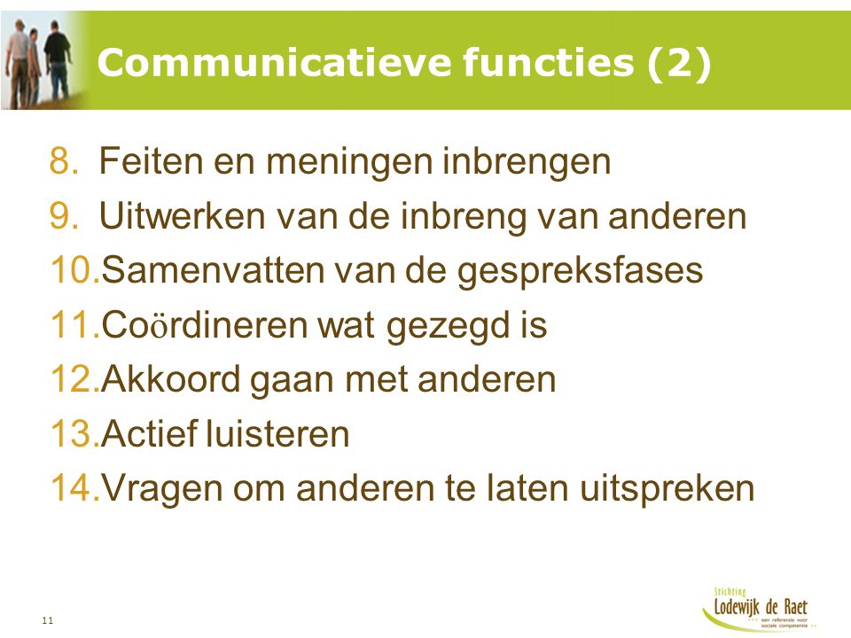 Communicatieve functies (2)