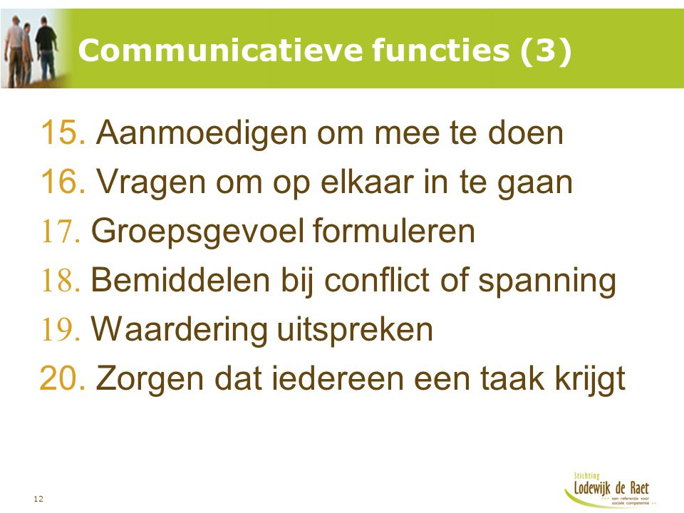 Communicatieve functies (3)