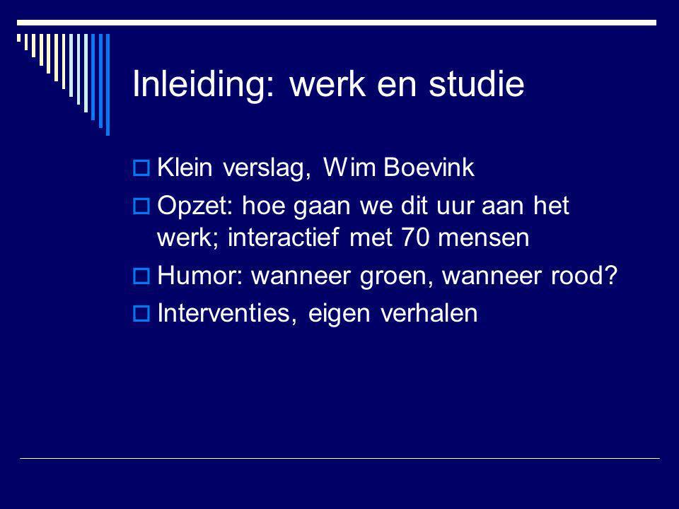 Inleiding: werk en studie