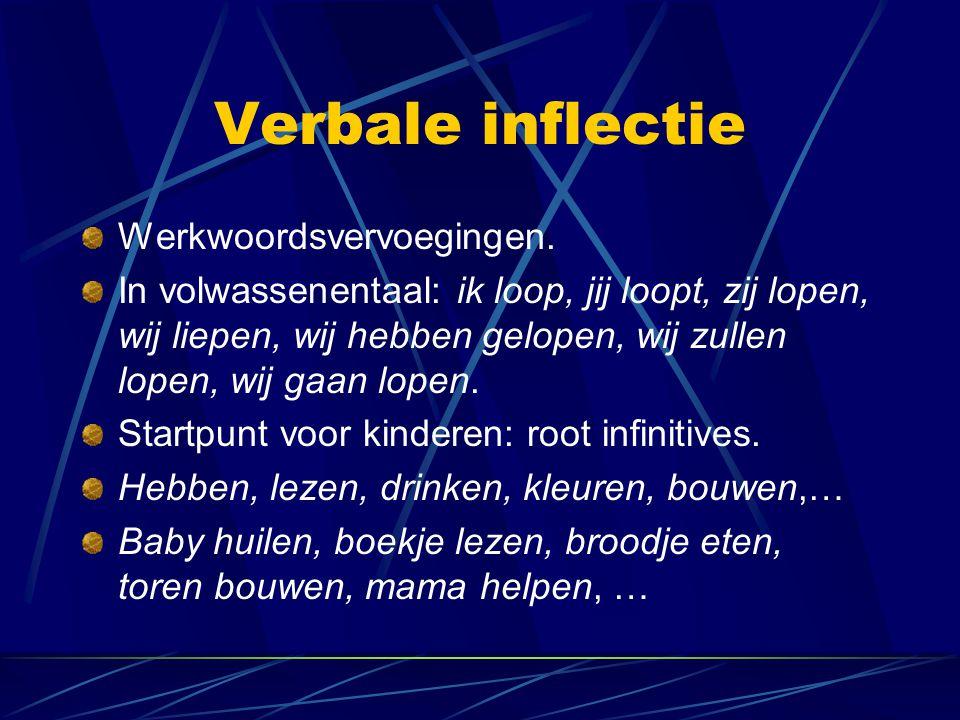 Verbale inflectie Werkwoordsvervoegingen.