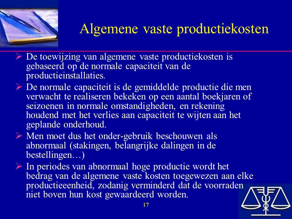 Algemene vaste productiekosten