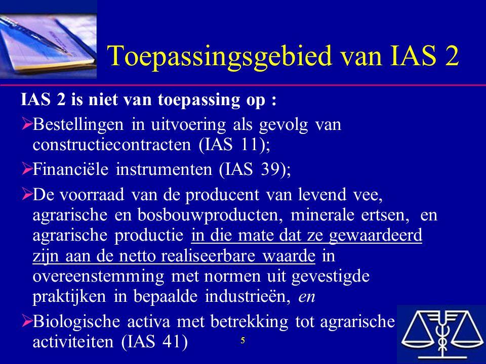 Toepassingsgebied van IAS 2
