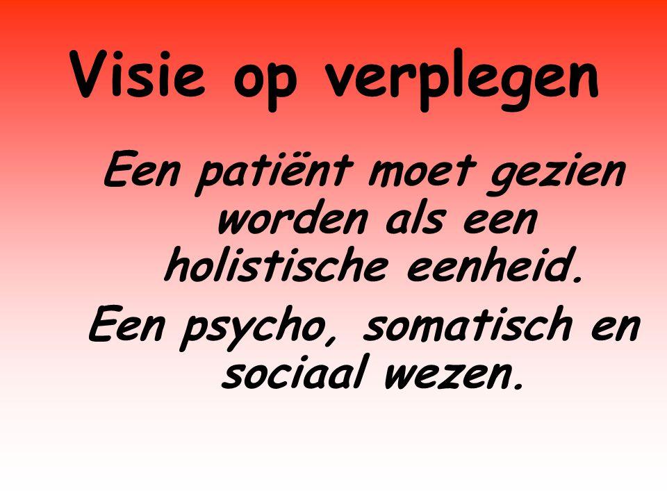 Een patiënt moet gezien worden als een holistische eenheid.