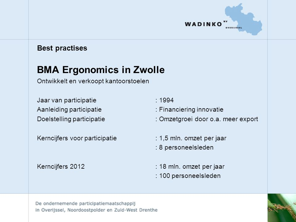 BMA Ergonomics in Zwolle