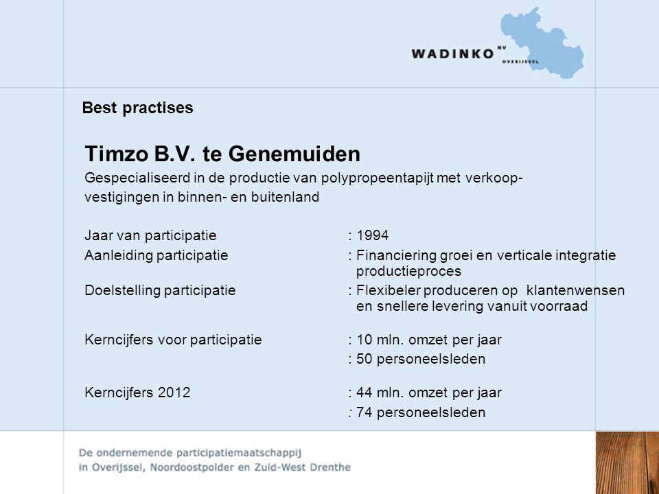 Timzo B.V. te Genemuiden Best practises