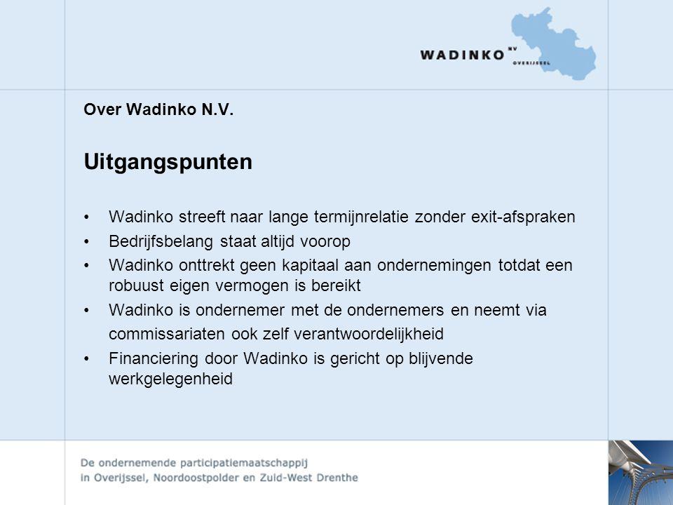 Uitgangspunten Over Wadinko N.V.