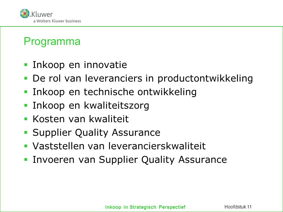 Programma Inkoop en innovatie