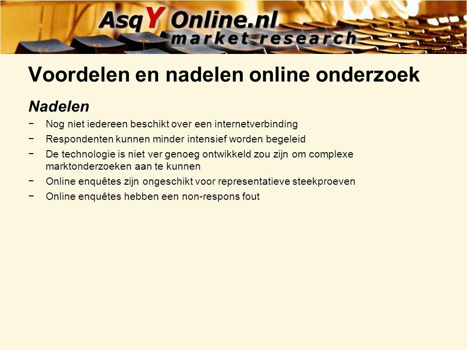 Voordelen en nadelen online onderzoek