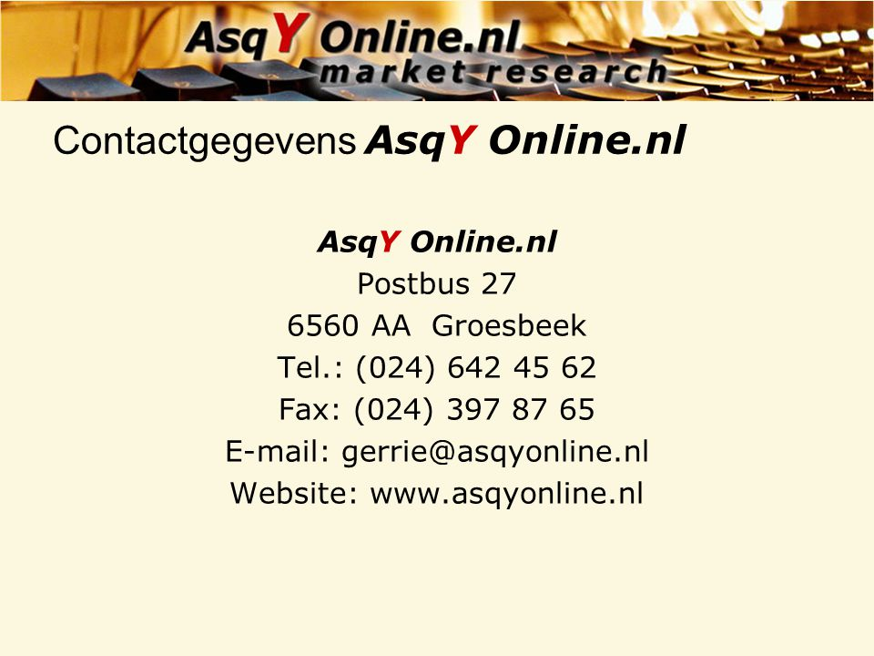 Contactgegevens AsqY Online.nl