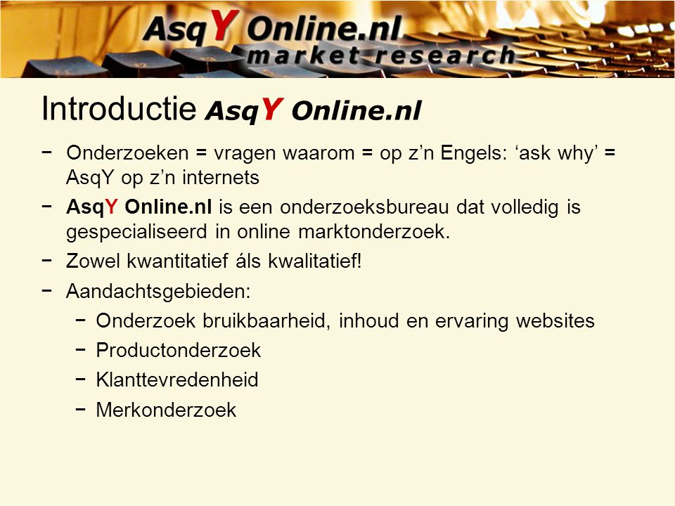Introductie AsqY Online.nl