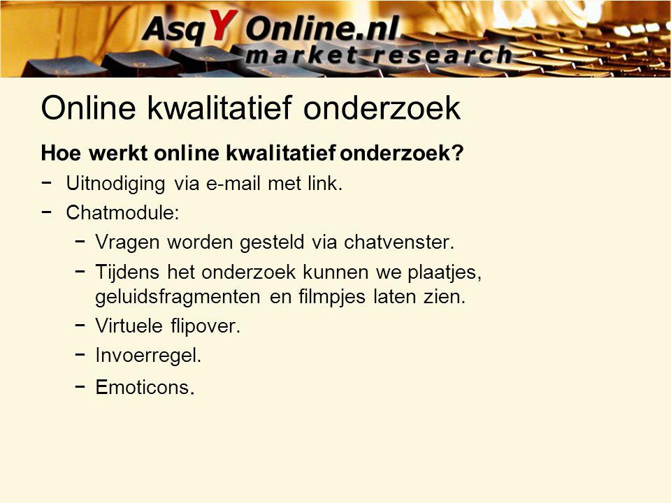 Online kwalitatief onderzoek