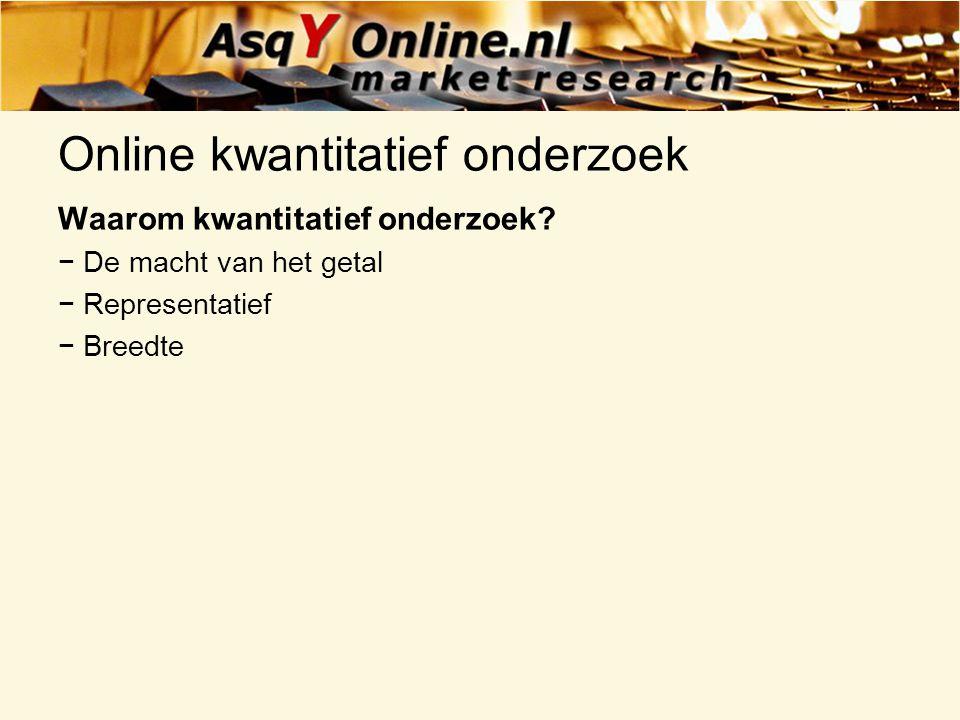 Online kwantitatief onderzoek