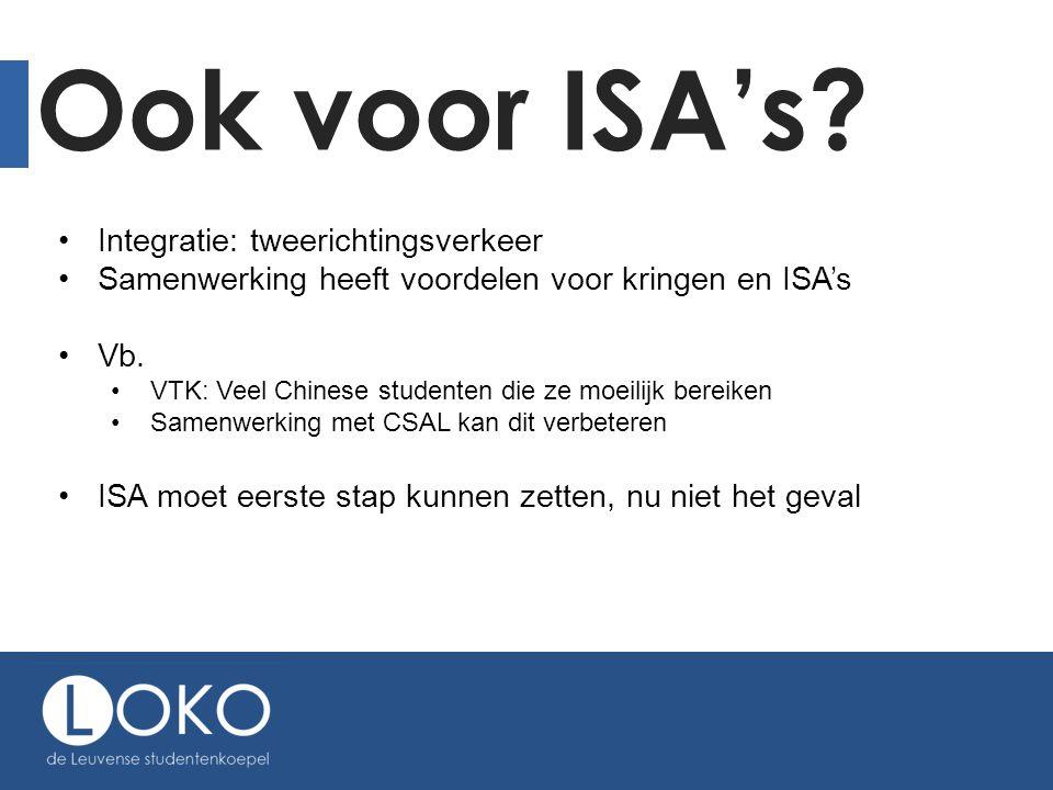 Ook voor ISA's Integratie: tweerichtingsverkeer