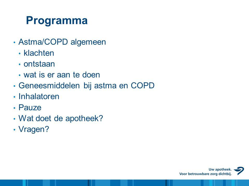 Programma Astma/COPD algemeen klachten ontstaan wat is er aan te doen