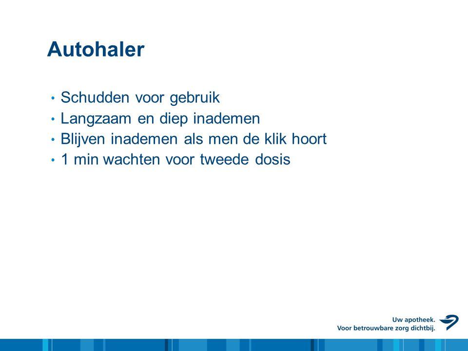 Autohaler Schudden voor gebruik Langzaam en diep inademen