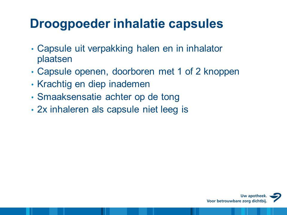 Droogpoeder inhalatie capsules