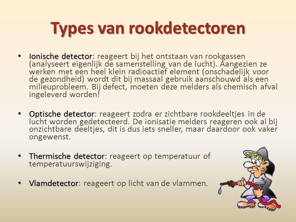 Types van rookdetectoren