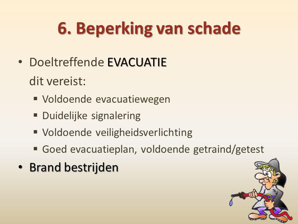 6. Beperking van schade Doeltreffende EVACUATIE dit vereist: