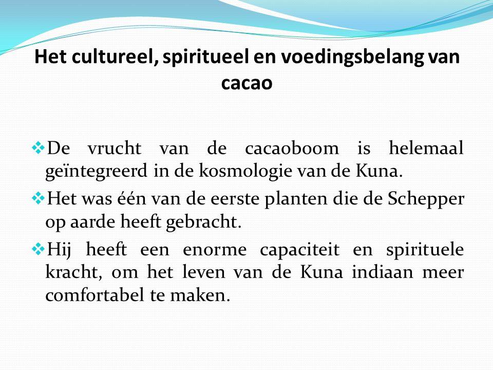 Het cultureel, spiritueel en voedingsbelang van cacao