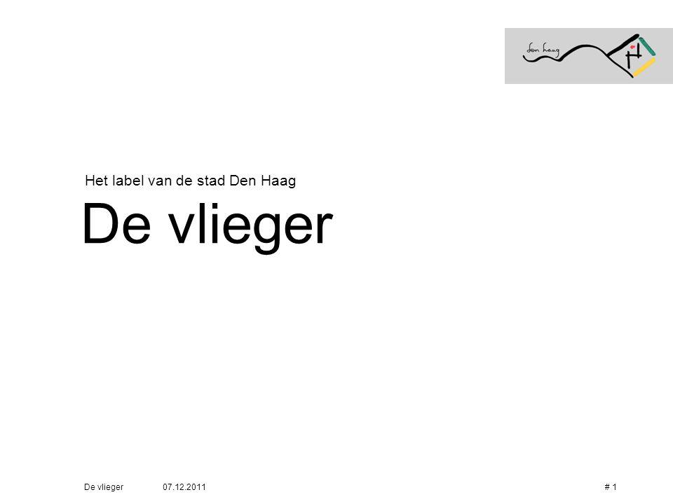 Het label van de stad Den Haag De vlieger