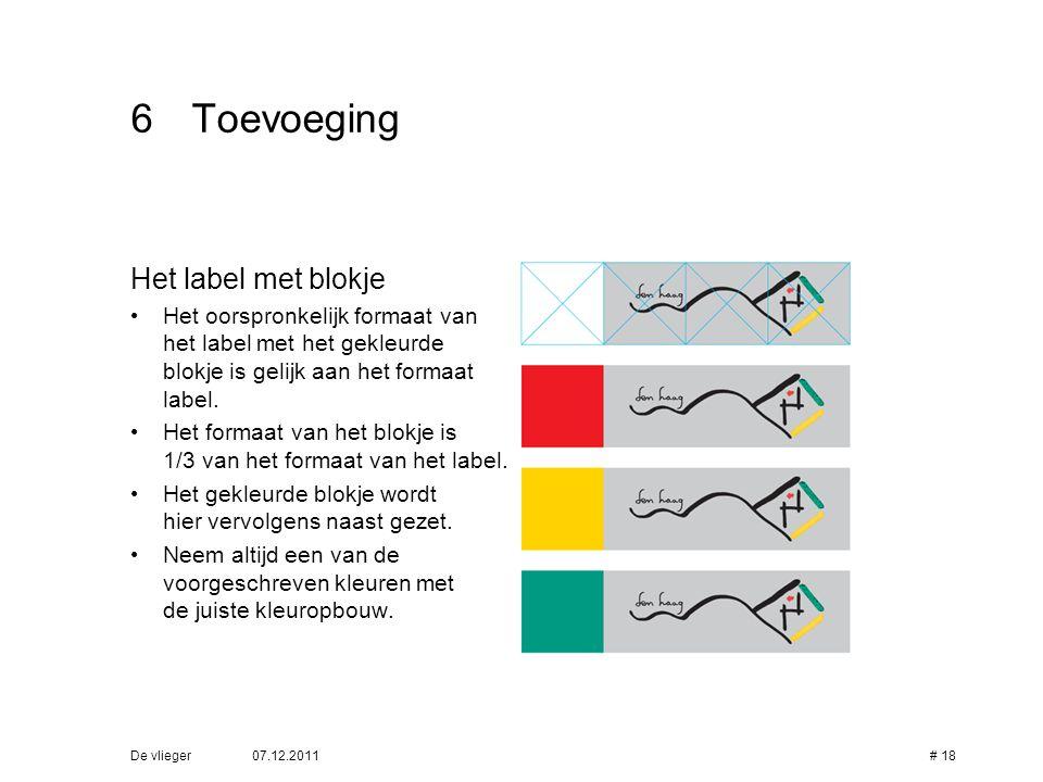 6 Toevoeging Het label met blokje
