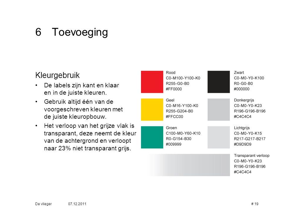 6 Toevoeging Kleurgebruik
