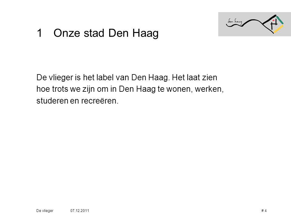 Onze stad Den Haag De vlieger is het label van Den Haag. Het laat zien
