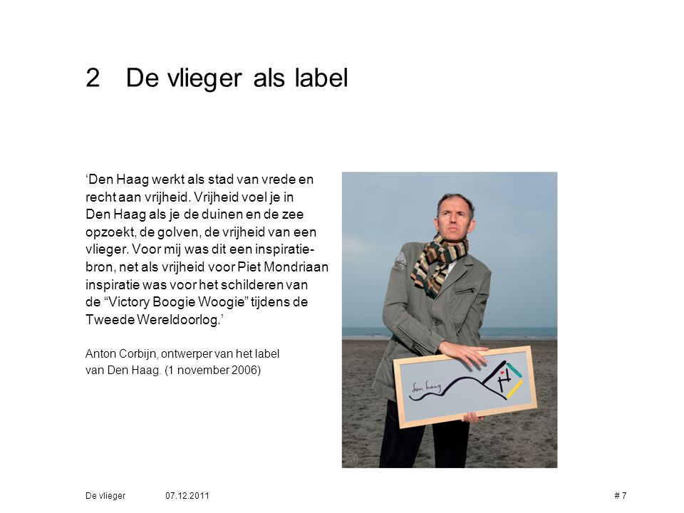 De vlieger als label 'Den Haag werkt als stad van vrede en