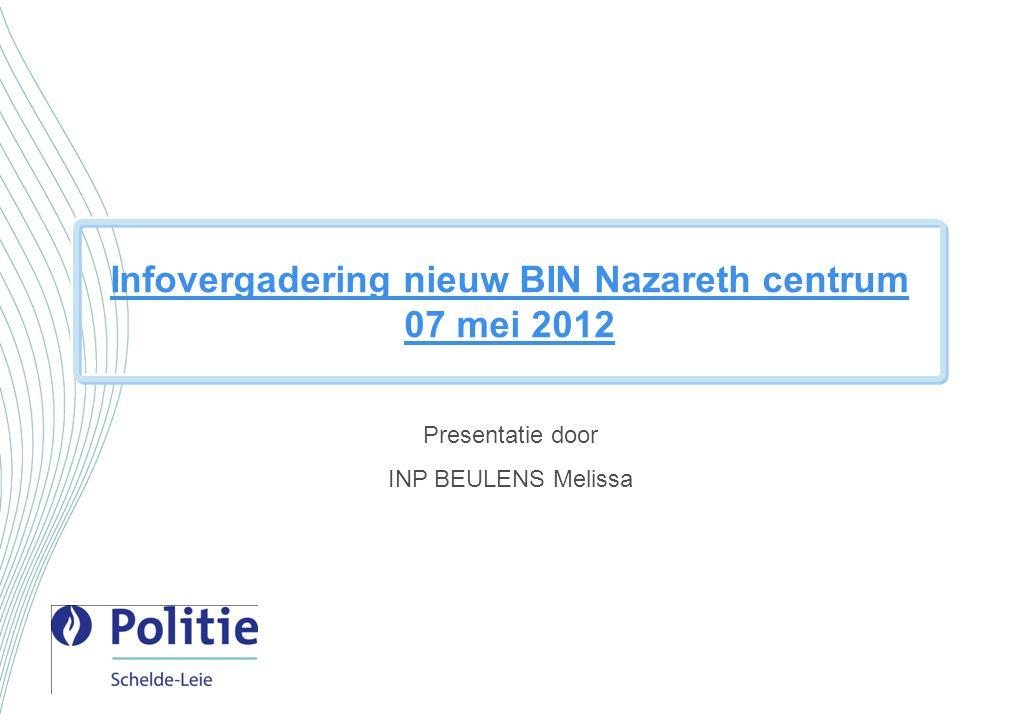 Infovergadering nieuw BIN Nazareth centrum 07 mei 2012