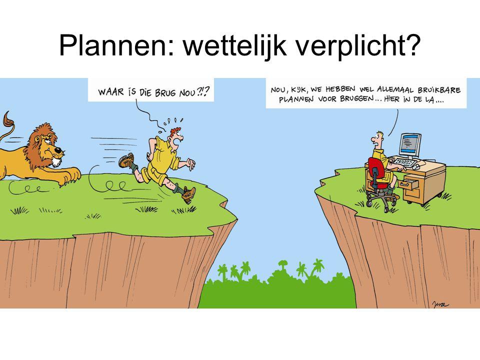 Plannen: wettelijk verplicht