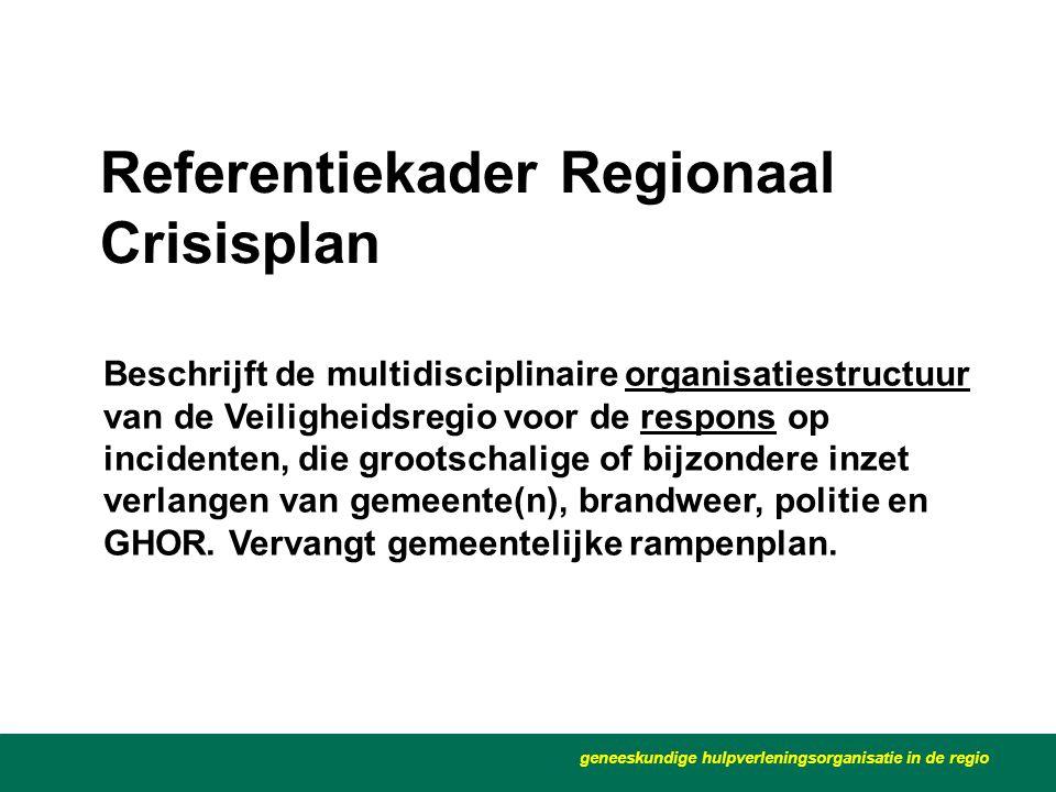 Referentiekader Regionaal Crisisplan