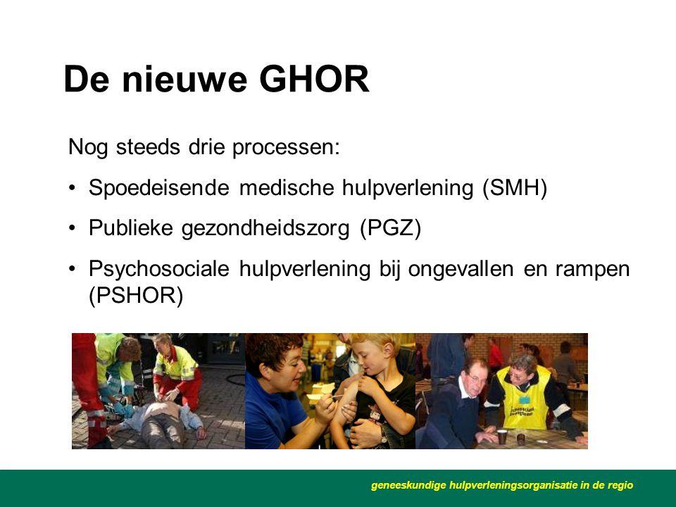 De nieuwe GHOR Nog steeds drie processen: