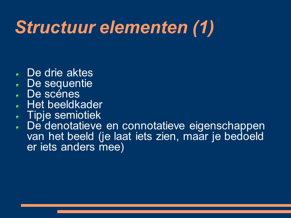 Structuur elementen (1)