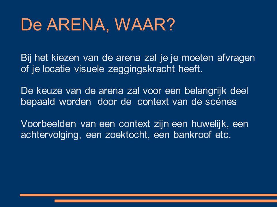 De ARENA, WAAR Bij het kiezen van de arena zal je je moeten afvragen of je locatie visuele zeggingskracht heeft.