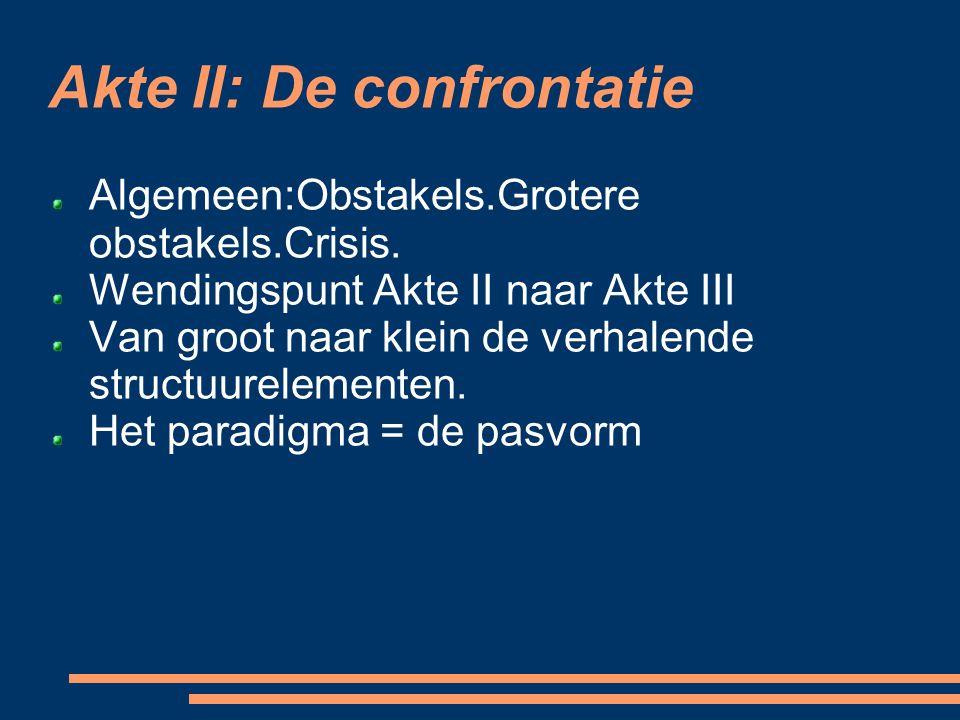 Akte II: De confrontatie