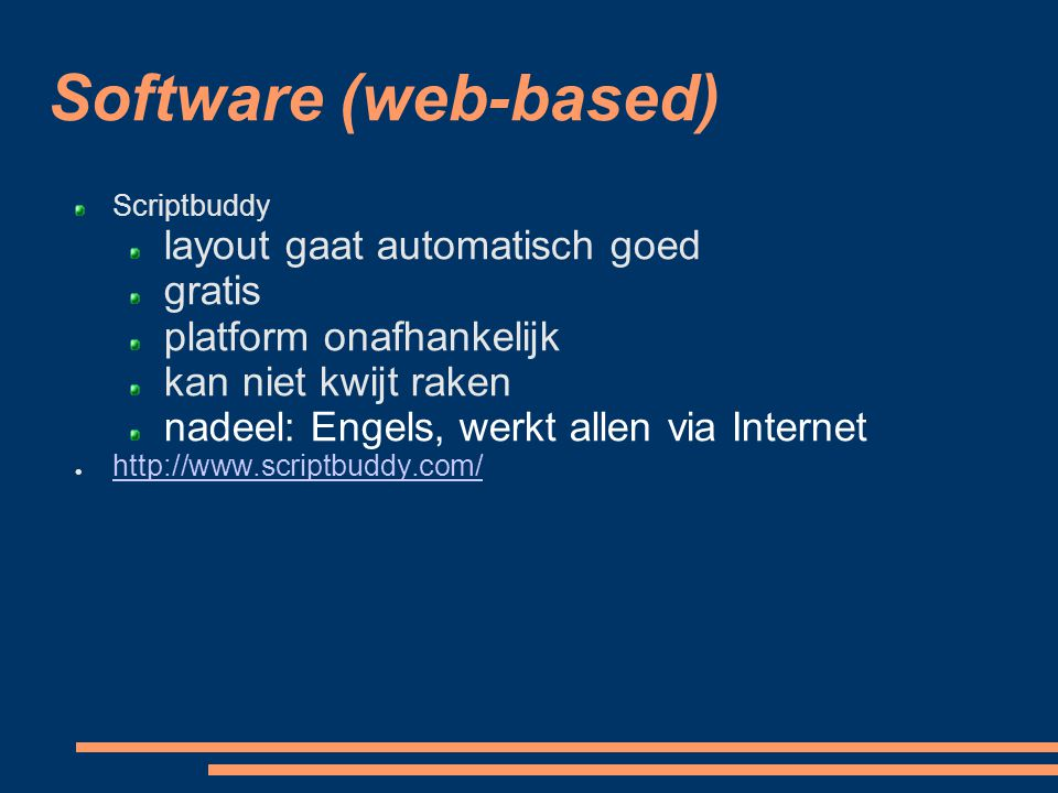 Software (web-based)‏