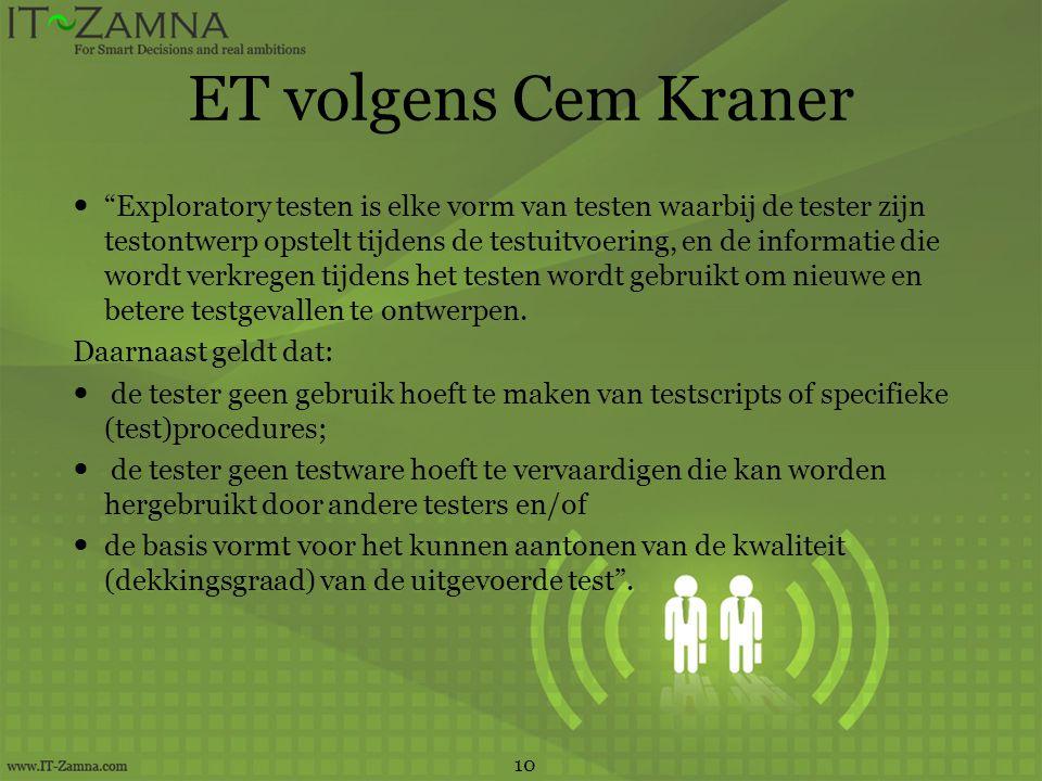 ET volgens Cem Kraner