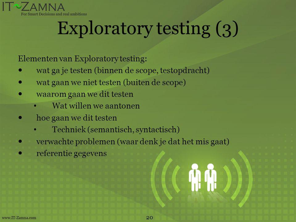 Exploratory testing (3)