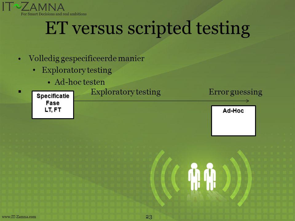 ET versus scripted testing