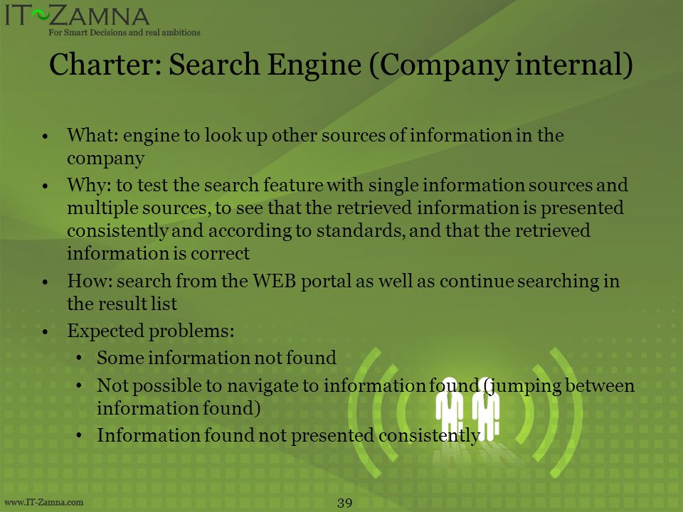 Charter: Search Engine (Company internal)