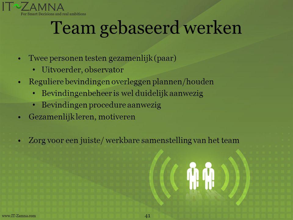 Team gebaseerd werken Twee personen testen gezamenlijk (paar)