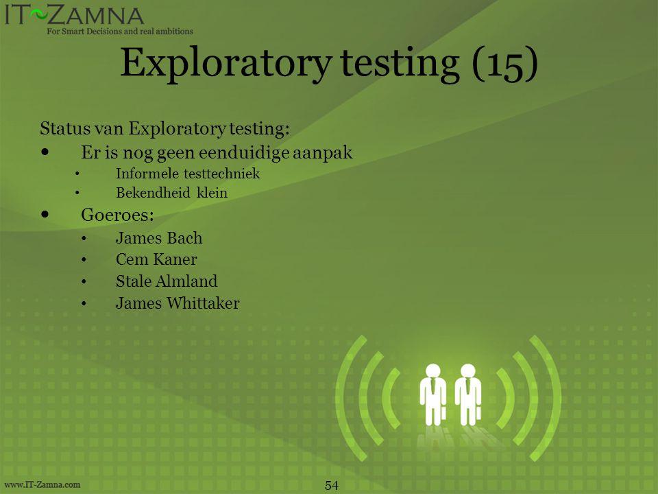 Exploratory testing (15)