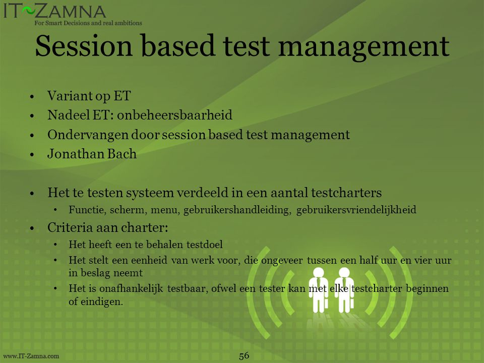 Session based test management