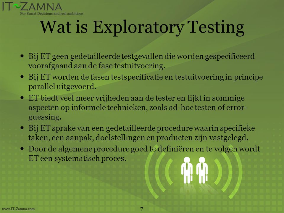 Wat is Exploratory Testing