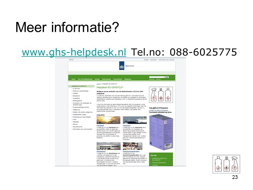 www.ghs-helpdesk.nl Tel.no: 088-6025775