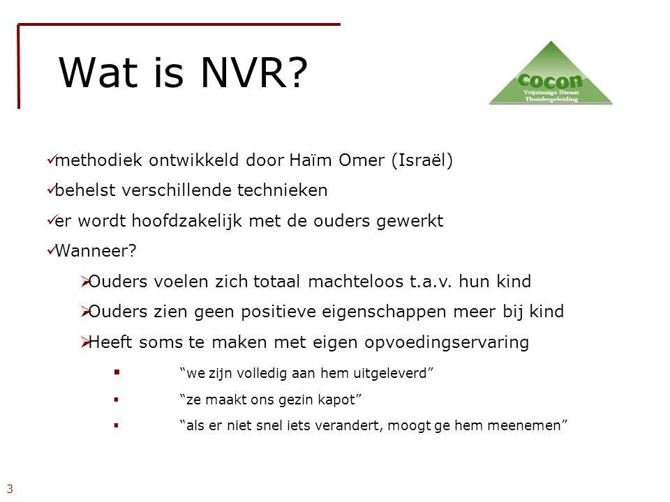 Wat is NVR methodiek ontwikkeld door Haïm Omer (Israël)