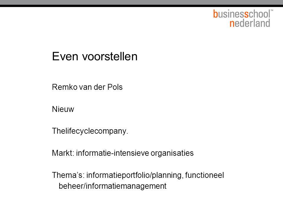 Even voorstellen Remko van der Pols Nieuw Thelifecyclecompany.