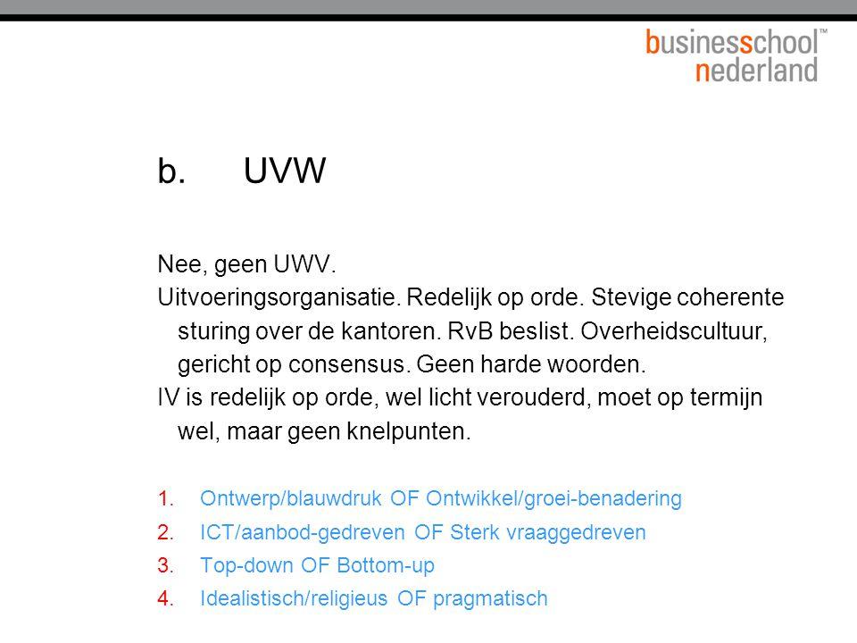 b. UVW Nee, geen UWV.