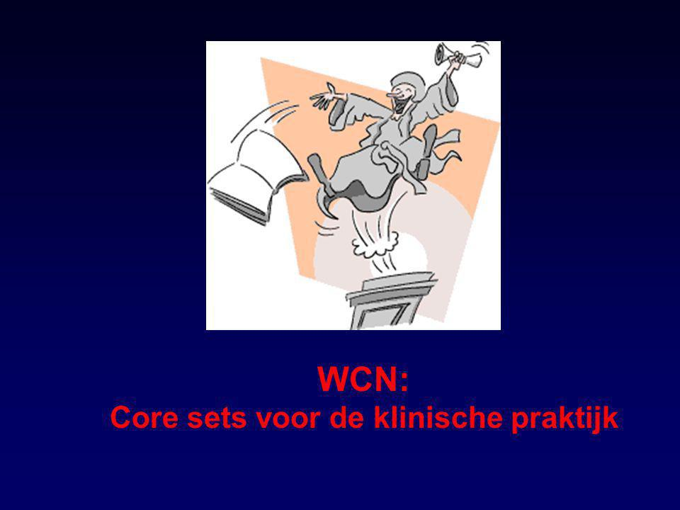 WCN: Core sets voor de klinische praktijk