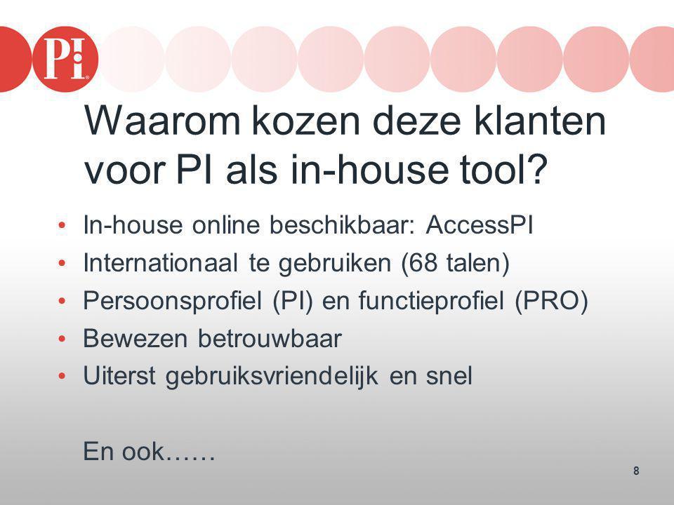 Waarom kozen deze klanten voor PI als in-house tool